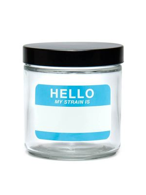 420 Science Clear Screw-Top Glass Jar - Hello Write & Erase