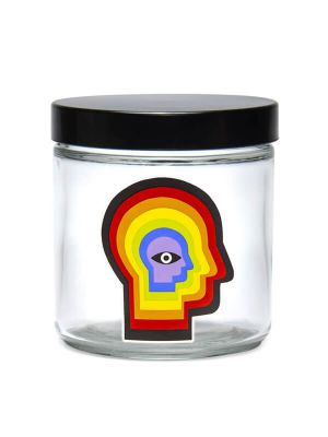 420 Science Clear Screw-Top Glass Jar - Rainbow Mind