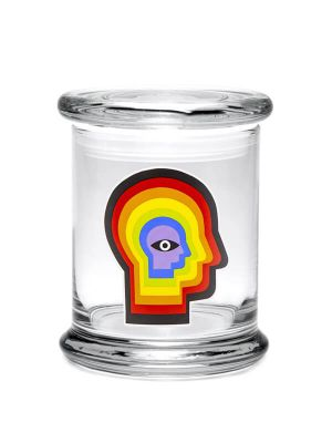 420 Science Pop Top Jar - Rainbow Mind