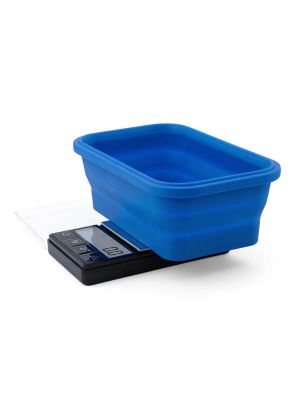 On Balance SBS-1000 Scale with Blue Collapsible Silicone Bowl