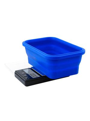 On Balance SBS-200 Scale with Blue Collapsible Silicone Bowl