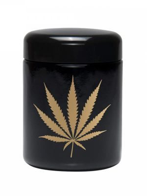 420 Science UV Screw-Top Glass Jar - Gold Leaf