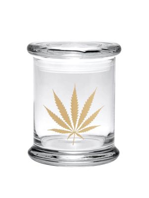 420 Science Pop Top Jar - Gold Leaf
